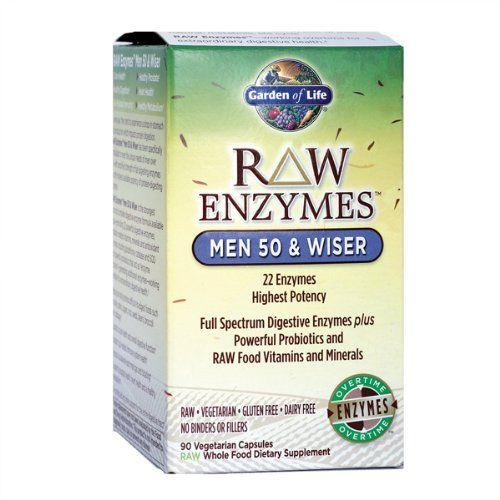 Garden Of Life Vegetarian Digestive Supplement For Men Raw Enzymes Men 50 Wiser For Digestion Bloating Gas Digestive Enzymes Digestion Digestive Supplements