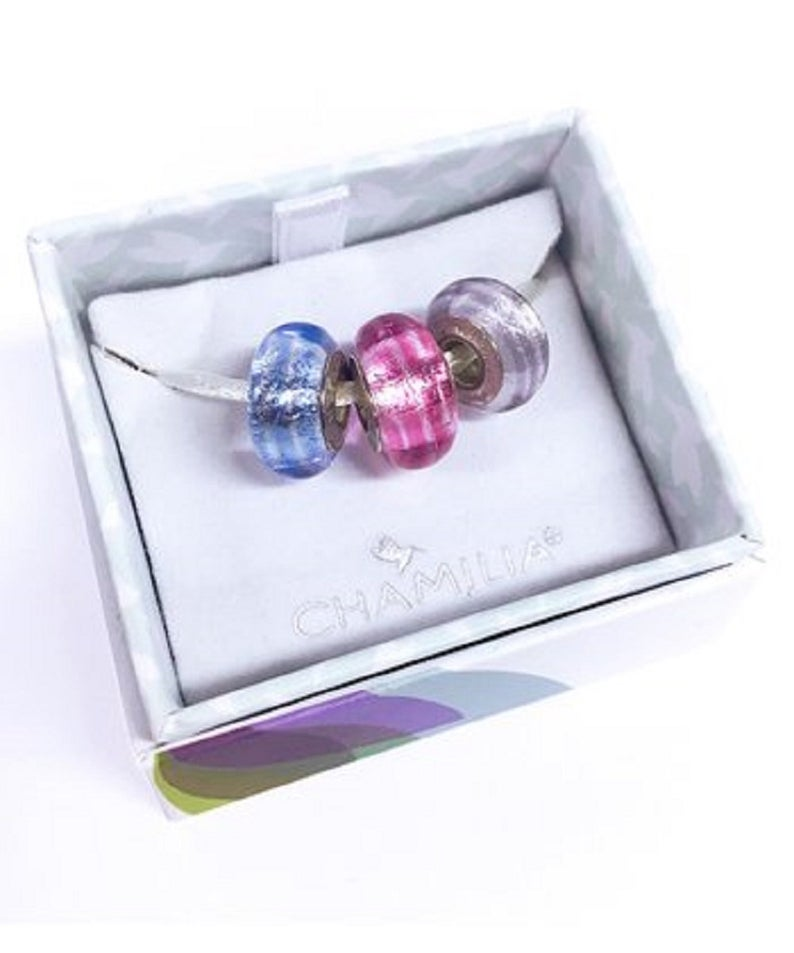 Chamilia Murano Glass & Sterling Silver Bead Set