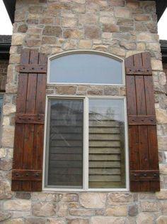 Black Wooden Shutters Exterior