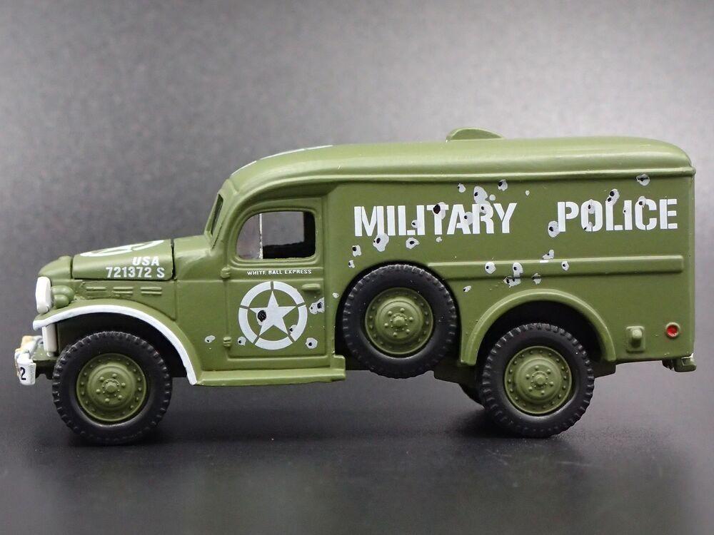 KOREAN WAR DODGE WC54 ARMY MILITARY AMBULANCE RARE 1:64 SCALE DIECAST MODEL CAR