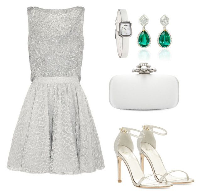 """""""M209"""" by pinkgirl501 ❤ liked on Polyvore featuring Alice + Olivia, Chanel, Stuart Weitzman and Oscar de la Renta"""