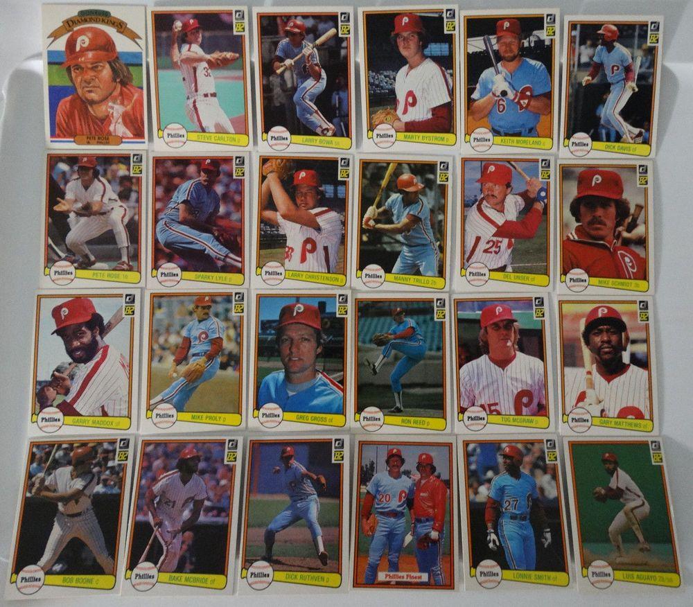 1982 donruss philadelphia phillies team set of 24 baseball