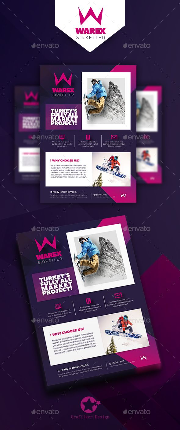 marketing flyer template psd indesign indd