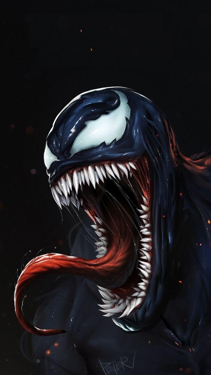 Angry venom, dark, artwork, 720x1280 wallpaper