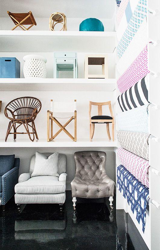 Furniture And Fabrics On Display At Serena U0026 Lily Design Shop.  #serenaandlily