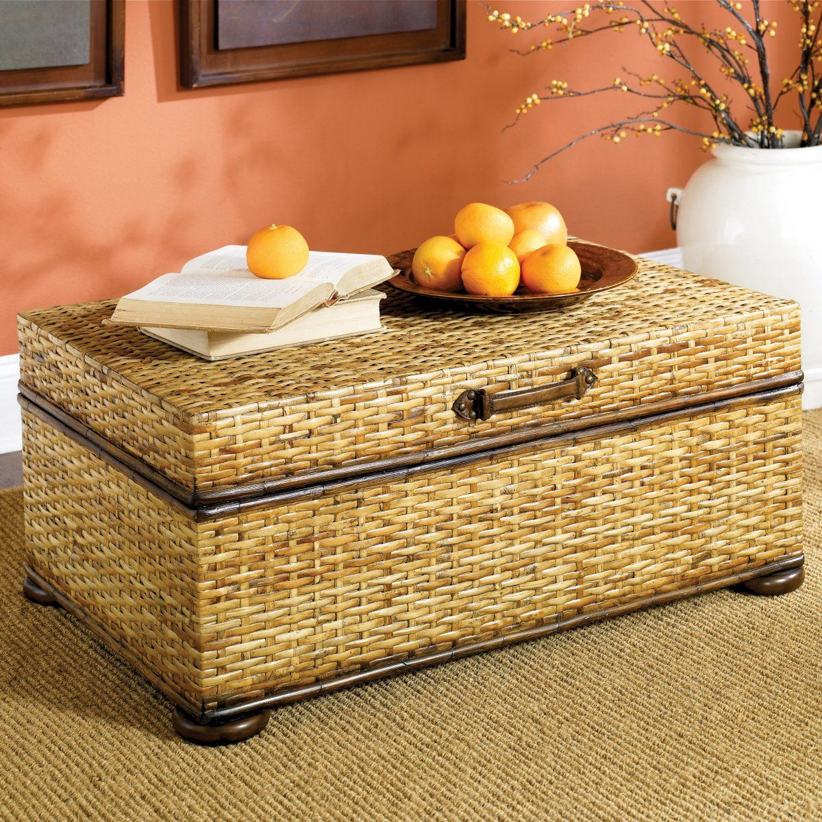 - Woven Rattan Trunk - This Looks Like The One Lazy Boy Had Rattan