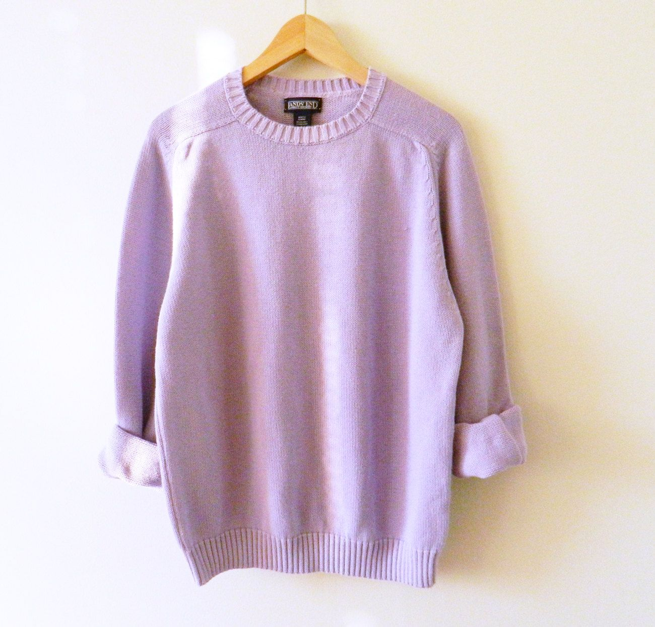 RESERVED FOR THEO-Vintage Pastel Lavender Knit Sweater / Mens ...