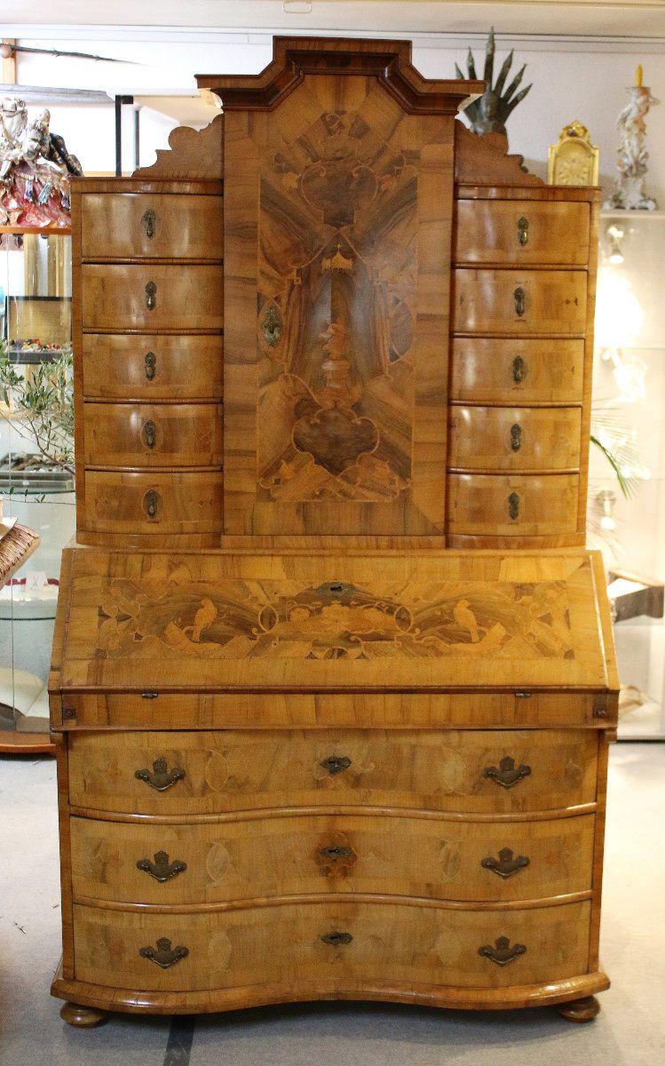 Braunschweiger Tabernakel Sekretar Um 1750 Antika Mobler Antik