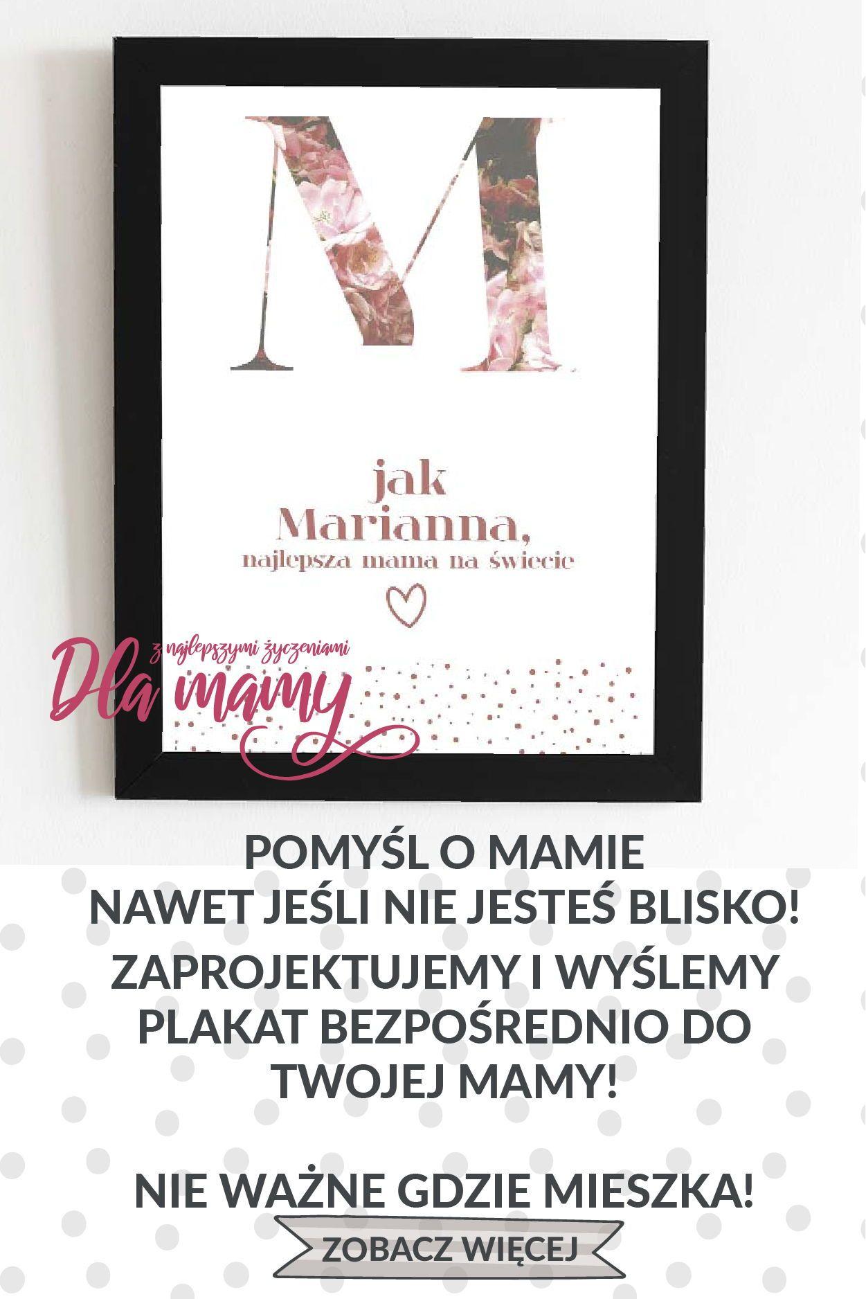 Piekny Plakat Dla Mamy Z Okazji Dnia Matki Z Personalizacja