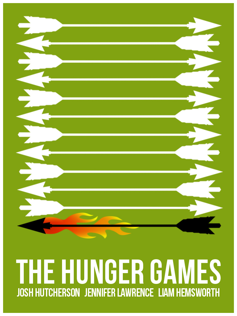 The Hunger Games Minimalist Movie Poster Posters De Filmes Minimalistas Posters De Filmes Filmes