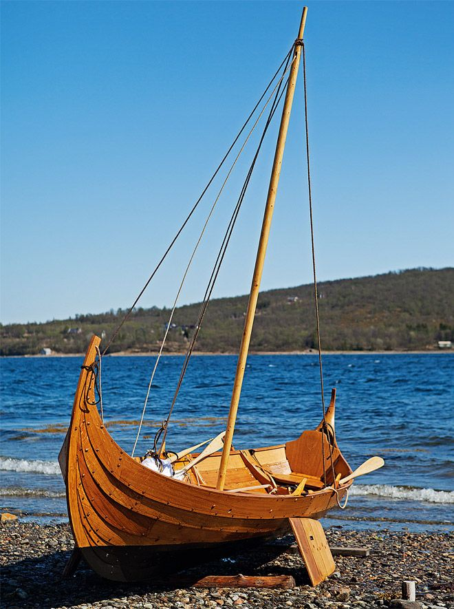 Small Viking boat-based sail and oar craft, inspired by the ...