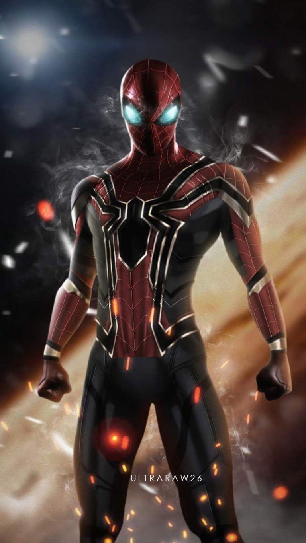Iron Spiderman Smoking Eyes IPhone Wallpaper - IPhone Wallpapers