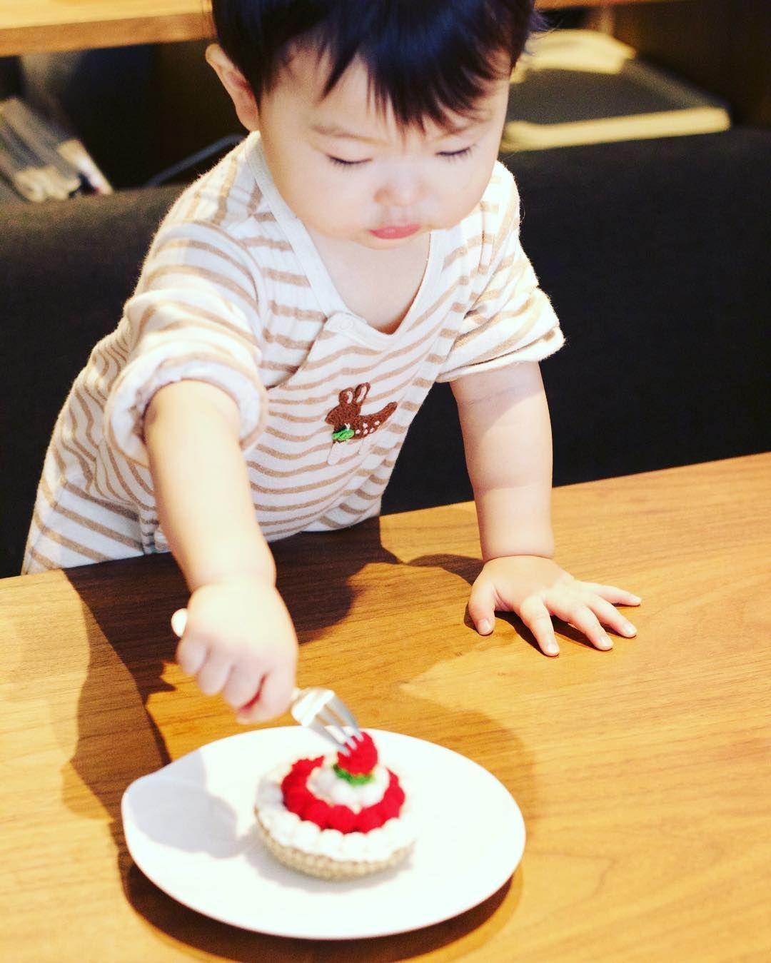 soboro_hijiki:: #手作り  #handmade  #タルト  #ケーキ  #cake #あみぐるみ #amigurumi #2015年生まれ #3月生まれ #love #cute #girl #女の子ママ #女の子 #親バカ #かわいい #tokyo #japan #mamagirl #1歳