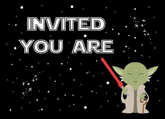 Pin En Invitaciones Y Tarjetas De Cumpleaños De Star Wars