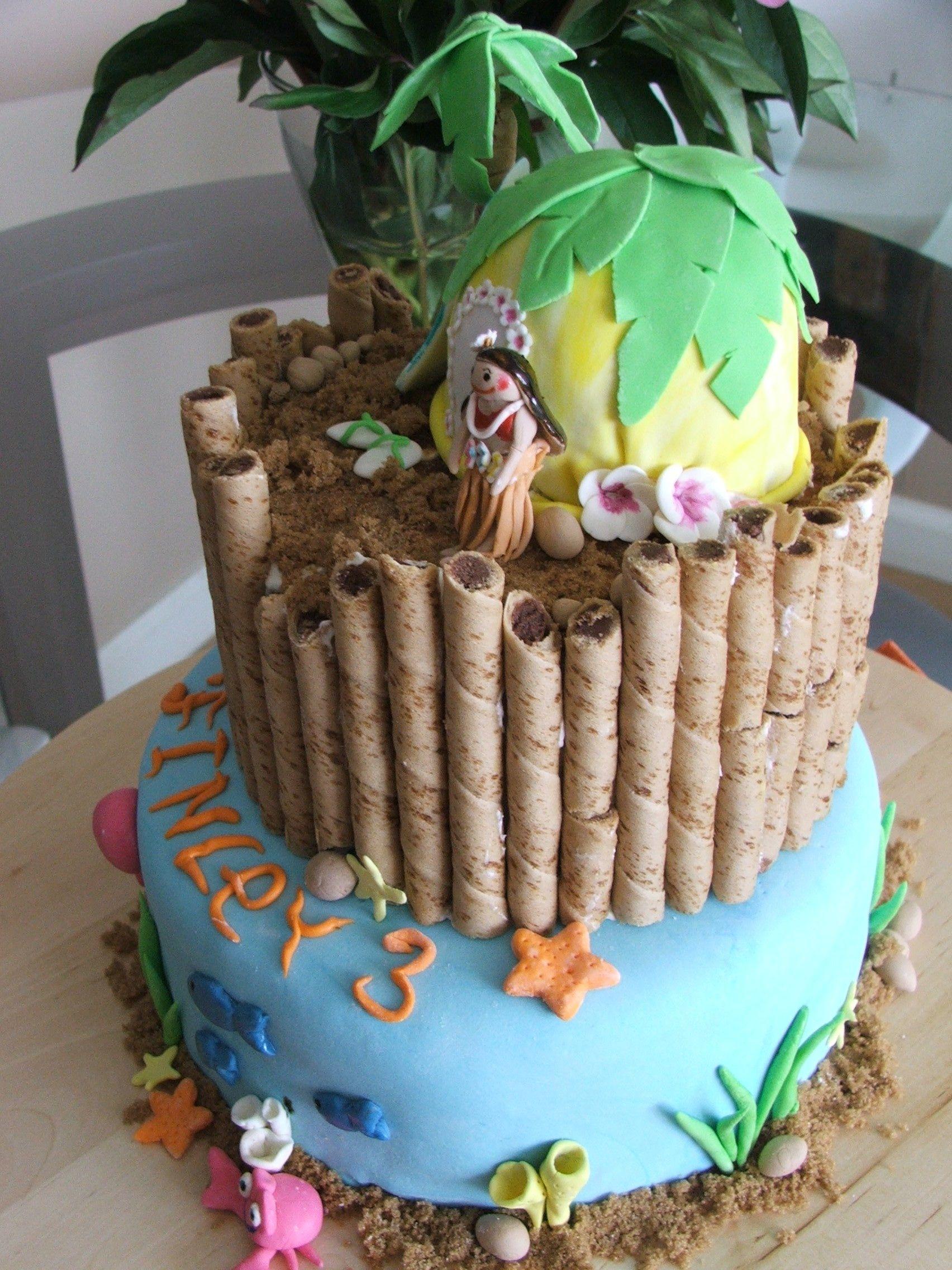 Hawaiian Cake Decorations Gum Paste Cakes Inc Cakes
