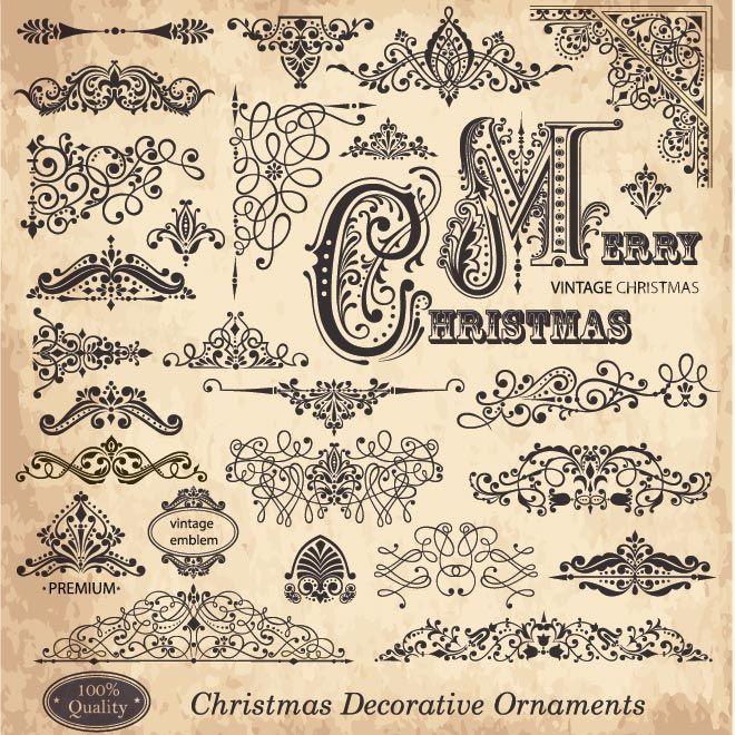 Free Vector Christmas Decorative Ornaments Free Vector