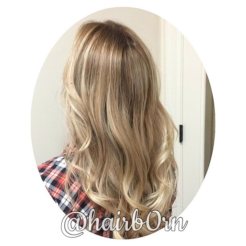 Balayage hair color by Emilee @hairb0rn miami hair stylist.
