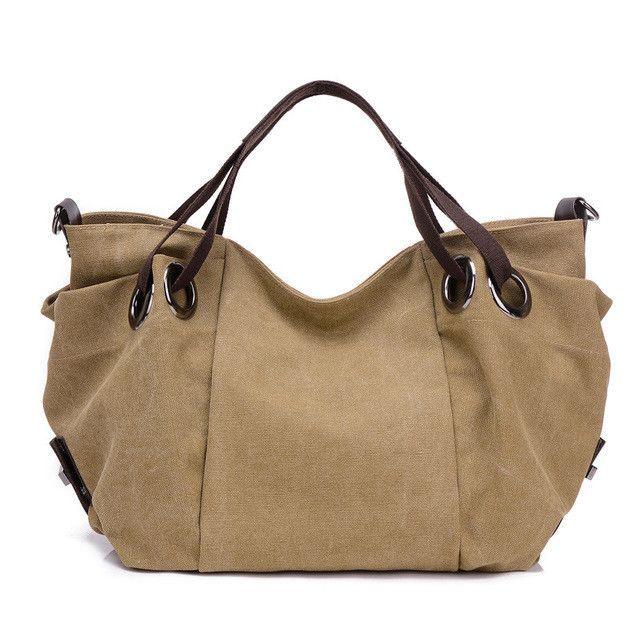 5053a5769df5 KVKY New Hot Autumn Winter Canvas Women Bags Handbags Big Shoulder Bags  Messenger Bag Ladies Crossbody