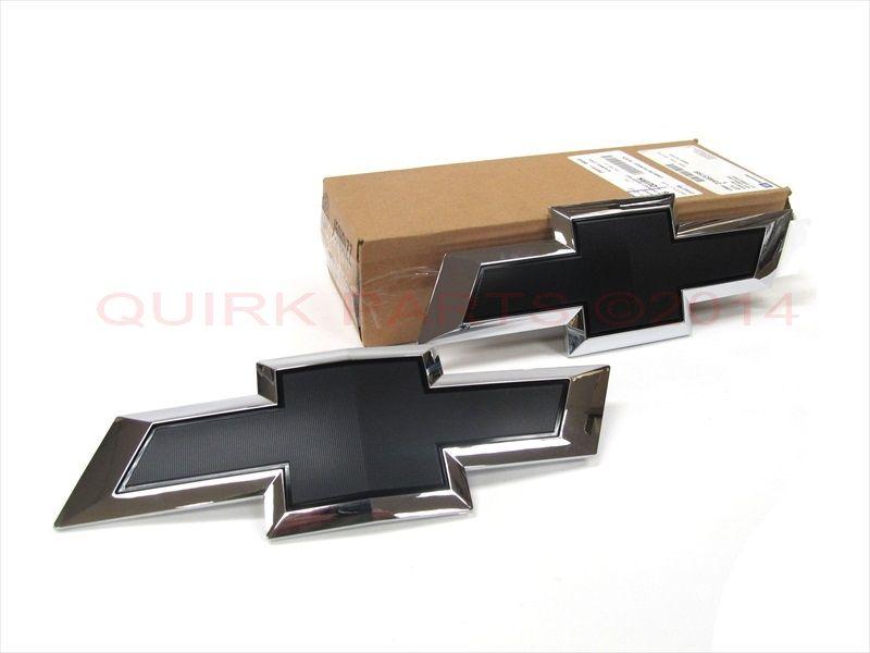 Chevrolet Silverado Rear Tailgate Gold  Chrome Bow Tie Emblem OEM New Genuine GM