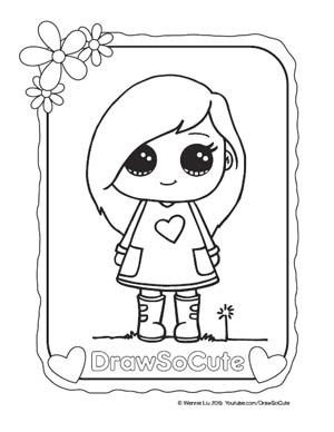 Coloring page sohie aarushi pinterest characters for Www drawsocute com coloring pages
