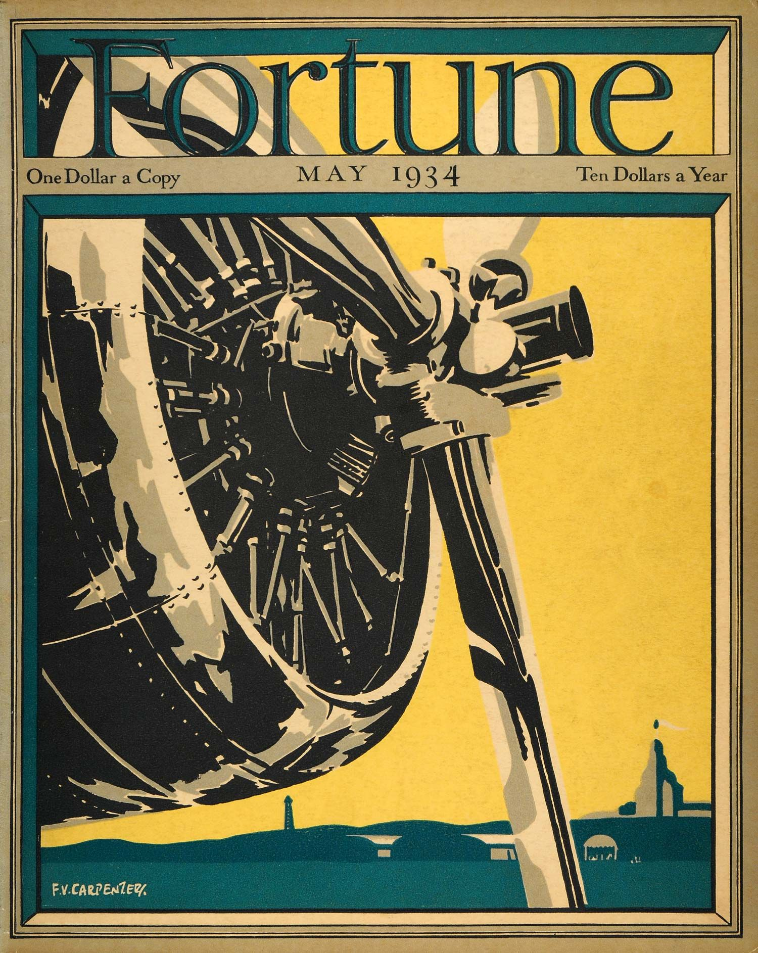 1934 May Fortune Cover Carpenter Airplane Propeller Fly ...