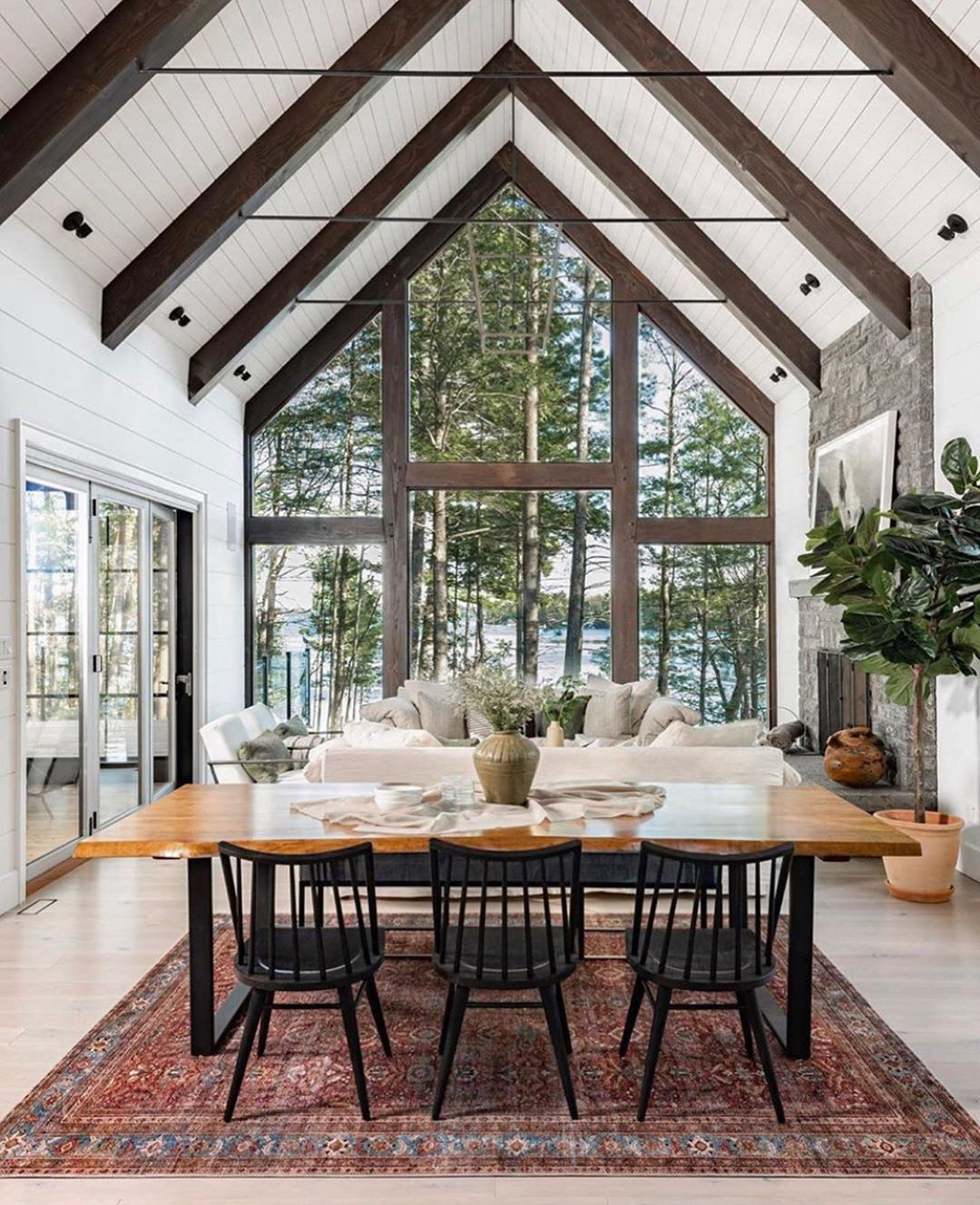 Kathy Kuo On Instagram This Open Concept Home Just Left Me Breathless I M Amazed When One Masters The Residential Design Muskoka Cottage Open Concept Home