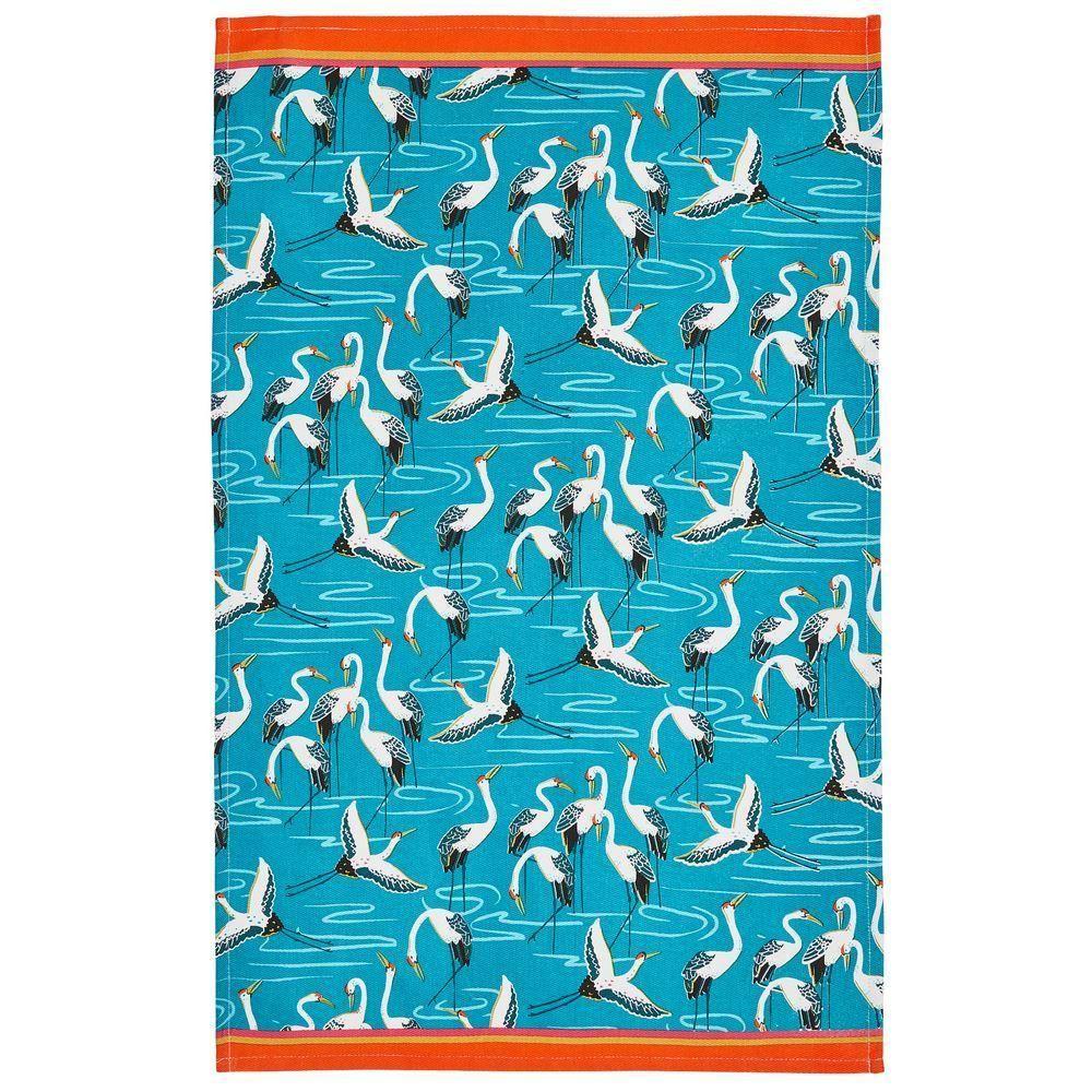 Ulster Weavers Cotton Tea Towel - Cranes (100% Cotton, Blue)