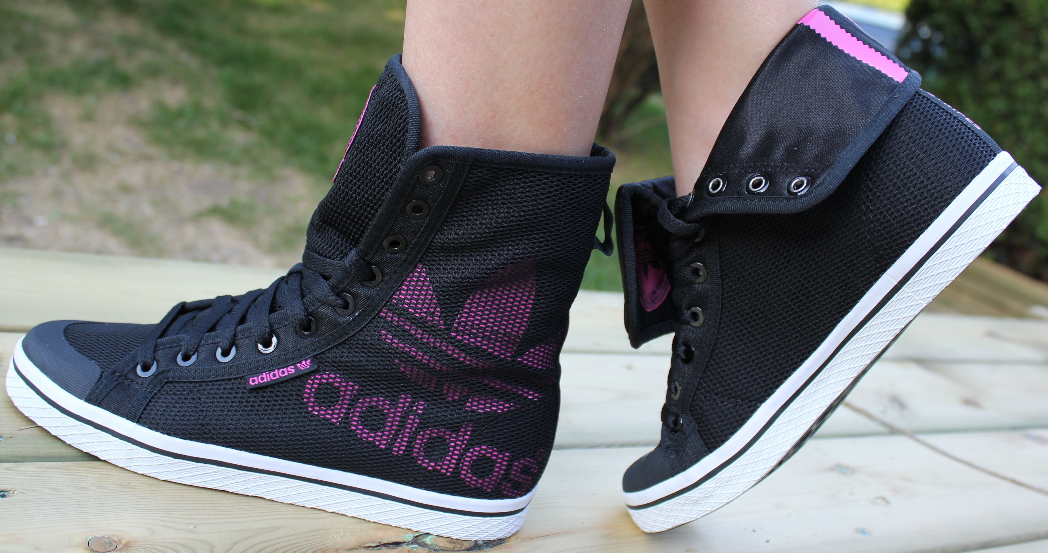 adidas honey hi schwarz pink
