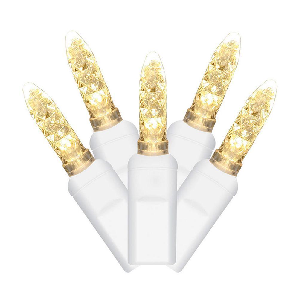 Vickerman 70 Light Warm White M5 LED Icicle Christmas Lights ...