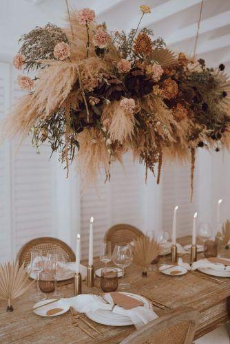 Decoração de casamento com flores secas e plantas – Tendência 2020