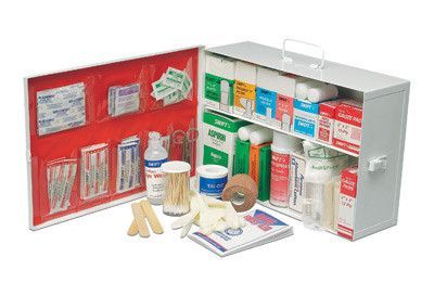 Radnor Two Shelf 10 Person Durable Metal Mobile Utility First Aid Kit First Aid Kit First Aid Cabinet First Aid Supplies