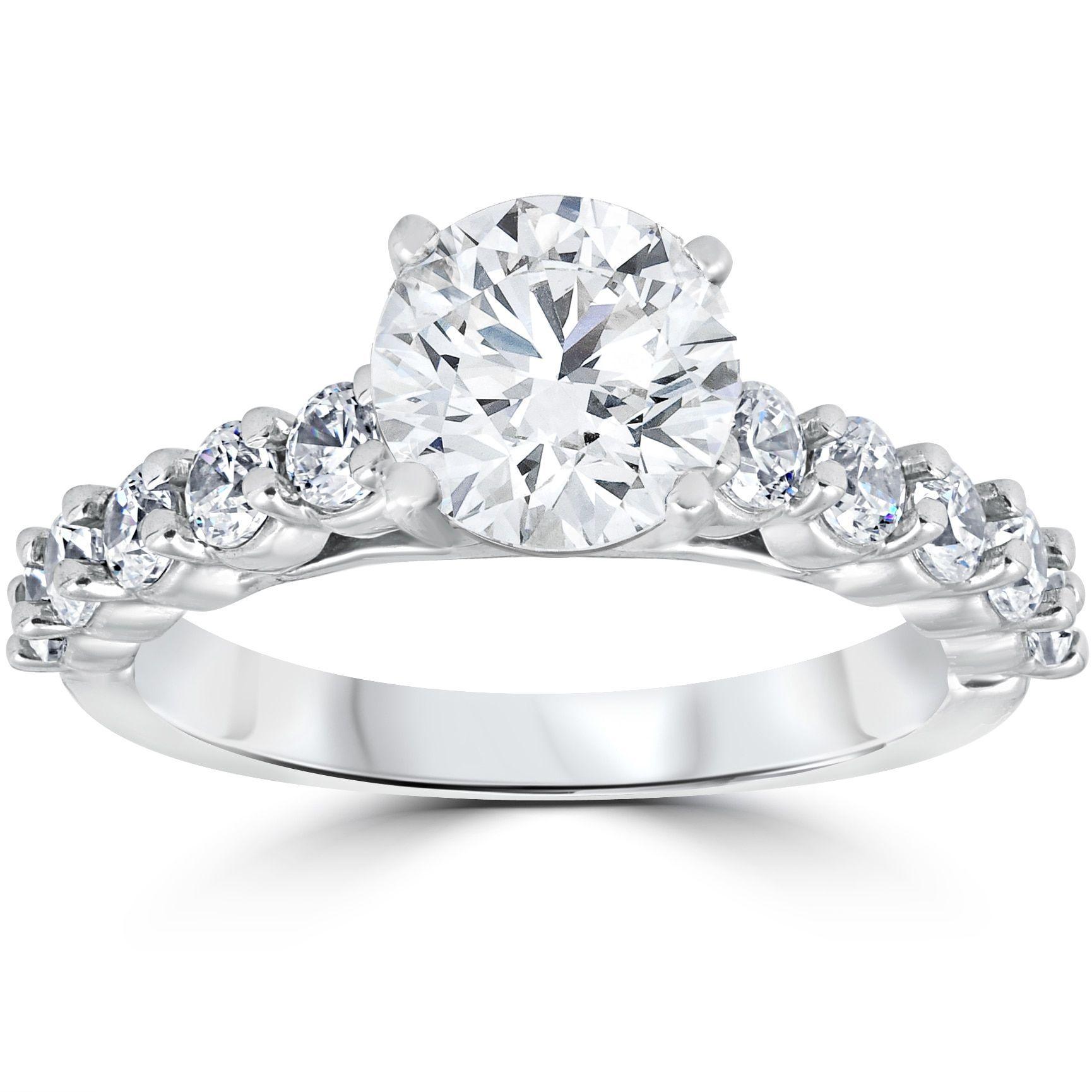 bliss 14k white gold 2ct tdw diamond clarity enhanced engagement