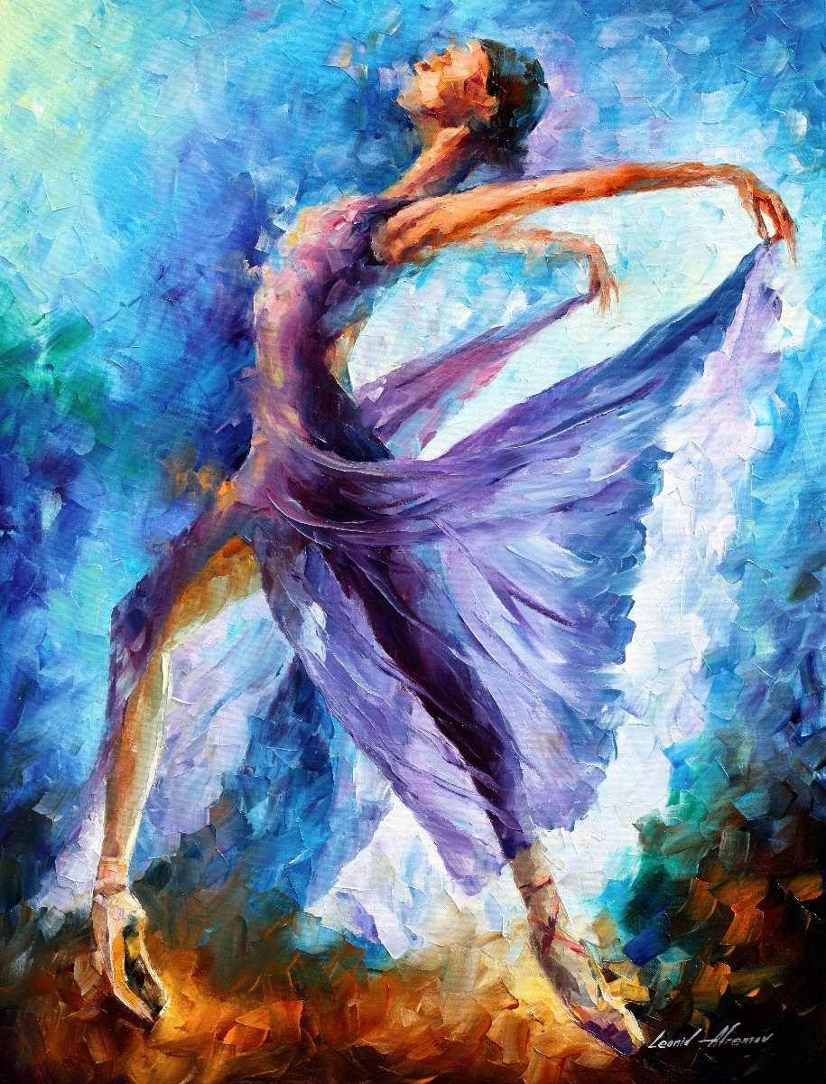 Pinturas De Bailarinas Leonid Afremov Color And Art Favorites Pintura De Bailarina