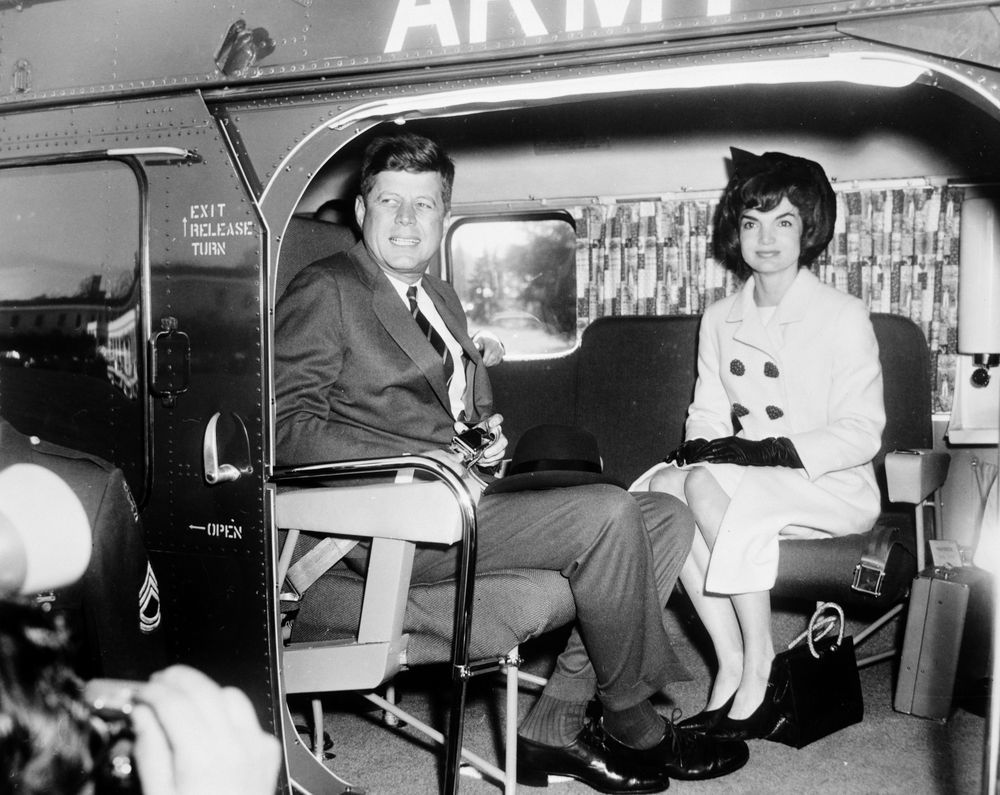 President John F Kennedy And First Lady Jacqueline Kennedy Depart White  House For South America