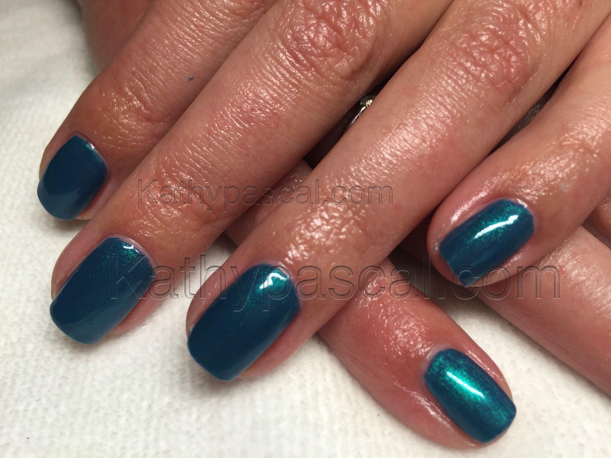 CND Shellac layering Hotski To Tchotchke and Blue Rapture | Nails ...