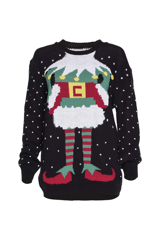 Weihnachtspulli Christmas Sweater Damen Sweatshirt Pullover
