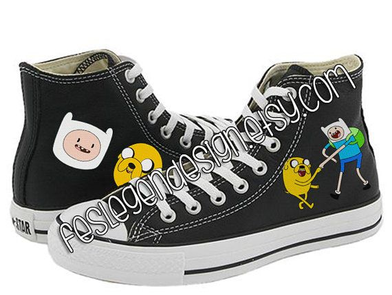 c656a508a08a Finn and Jake Painted Shoes   Adventure Time   by FeslegenDesign ...