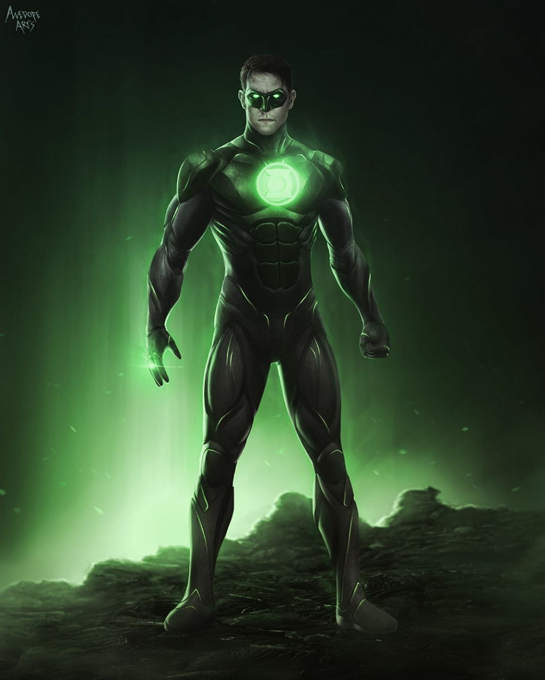 Awedopearts Rey On Instagram Concept Suit Sambenjaminnow As Green Lantern In Zs Justice League This Is Green Lantern Hal Jordan Green Lantern Lanterns