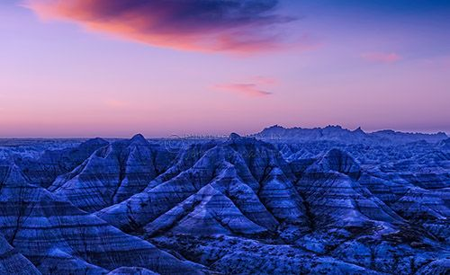 """""""Before Sunrise, Badlands National Park"""" This is a copyright photo. If you wish to purchase this photo or any other of my fine art prints, please visit my website at; www.jerryfornarotto.artistwebsites.com Watermark will be removed from all prints purchased."""