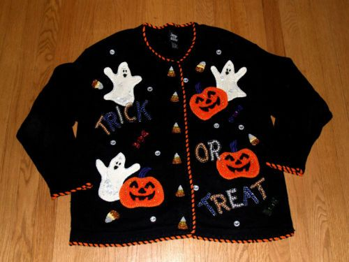 EZ DIY Ugly Sweater | Tacky Ugly Sweaters - Halloween | Pinterest ...