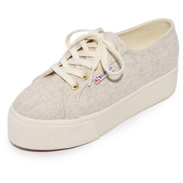 51963456e34 Superga 2790 Polywool Platform Sneakers (140 NZD) ❤ liked on ...