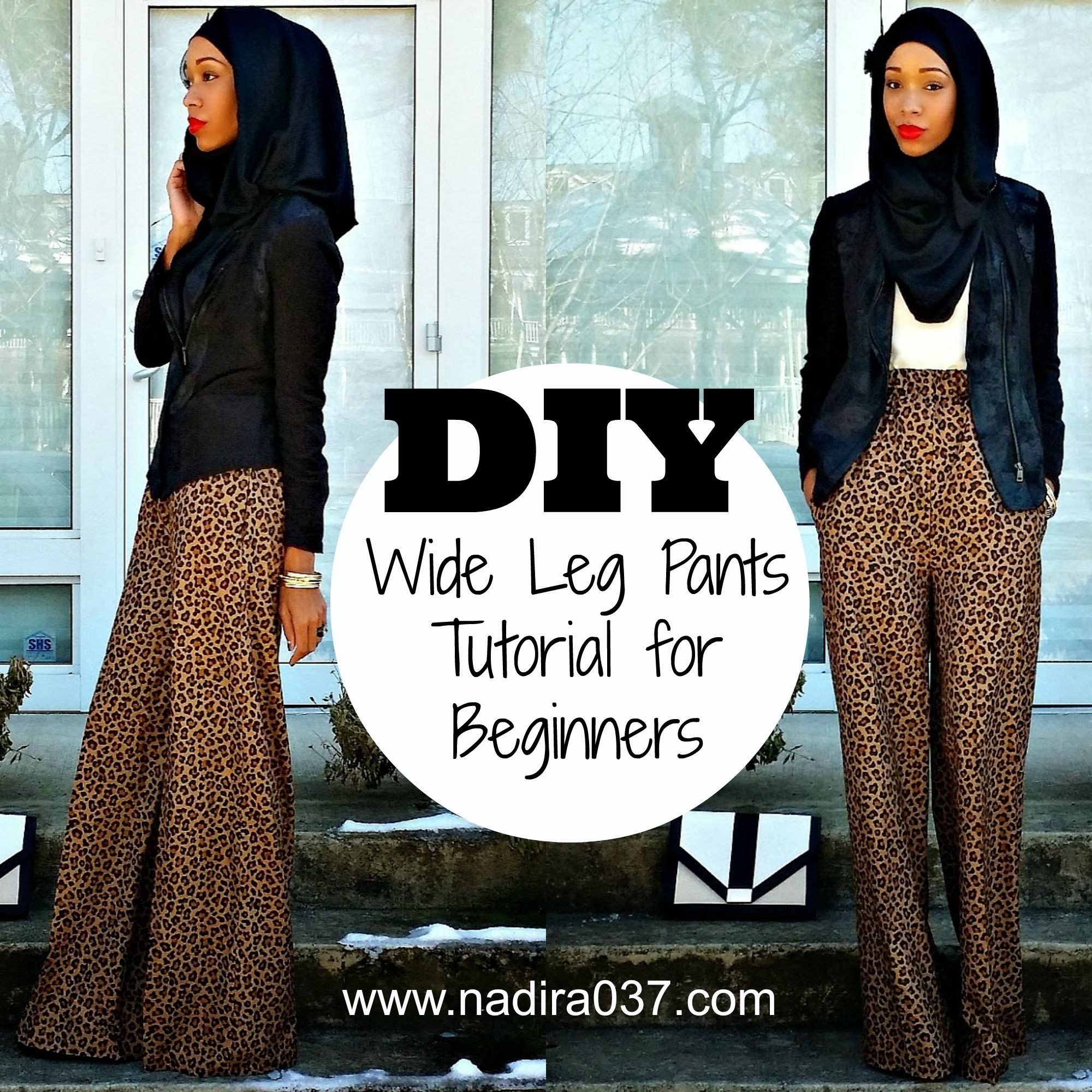 DIY | Nadira037 | Super easy wide leg pants tutorial for beginners ...