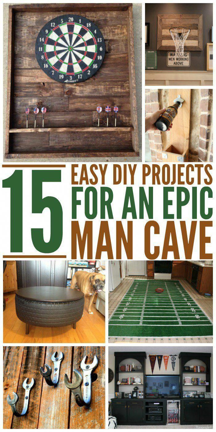 15 Epic Man Cave DIY Ideas #garagemancaves