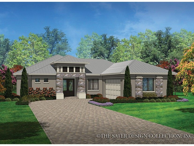 Eplans contemporary modern house plan contemporary prairie styling 1808 square feet and 3