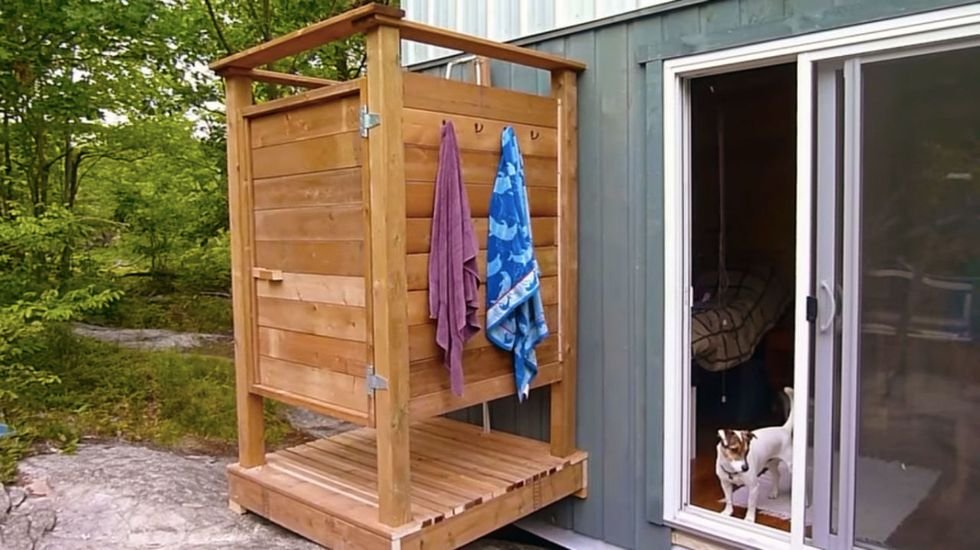 How To Build An Outdoor Shower Portable Outdoor Shower Outdoor Shower Outdoor Shower Diy