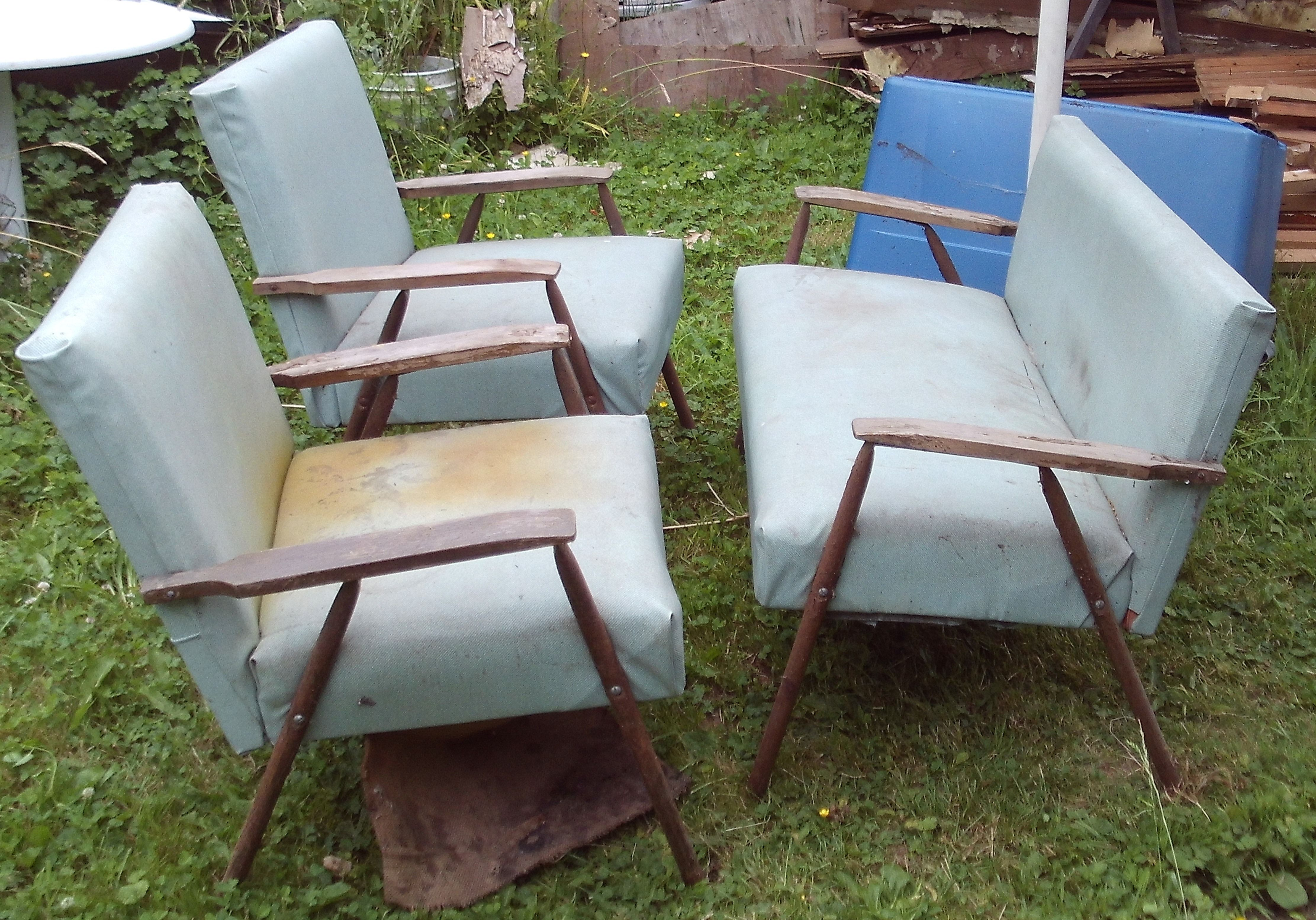 Mid Century Patio Furniture for Restoration solid frames