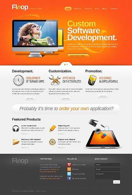 Developing New Ideas – Software Company WordPress Theme - See more ...