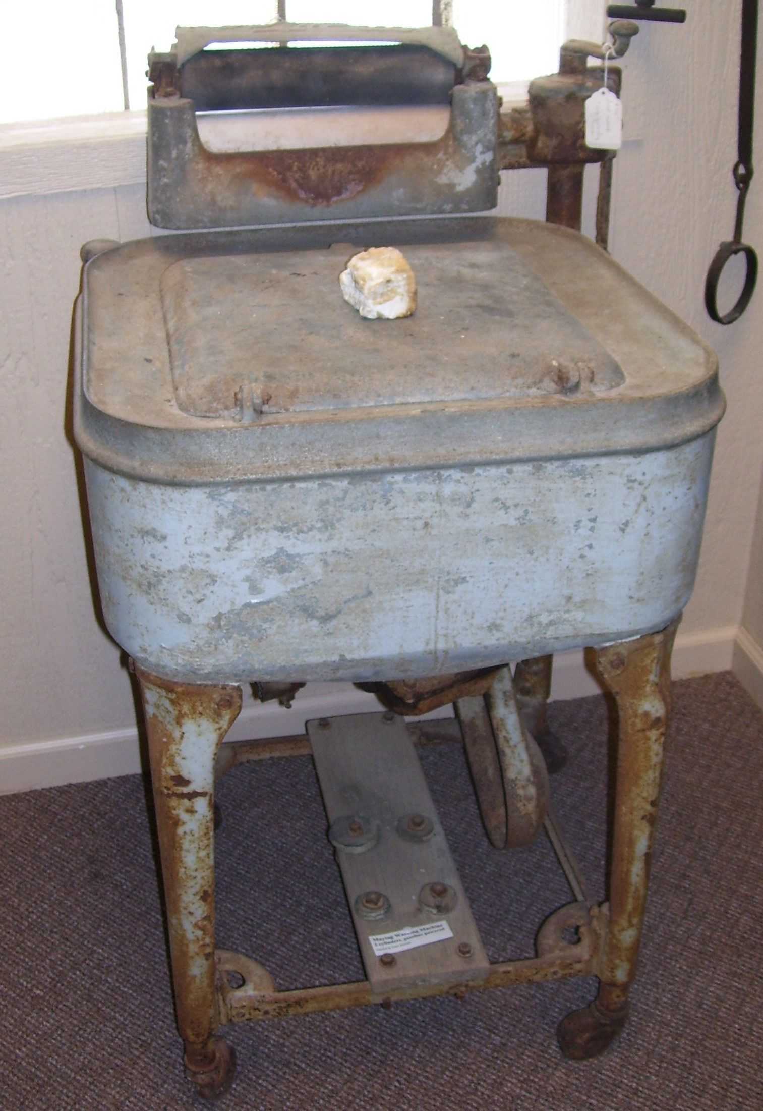 This is a 1930 Maytag wringer washer. When new, it cost $33.50 ...