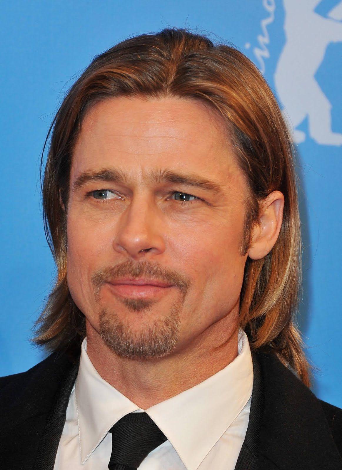 Men haircut long face brad pitt  bradpitt  celebridades  pinterest  brad pitt