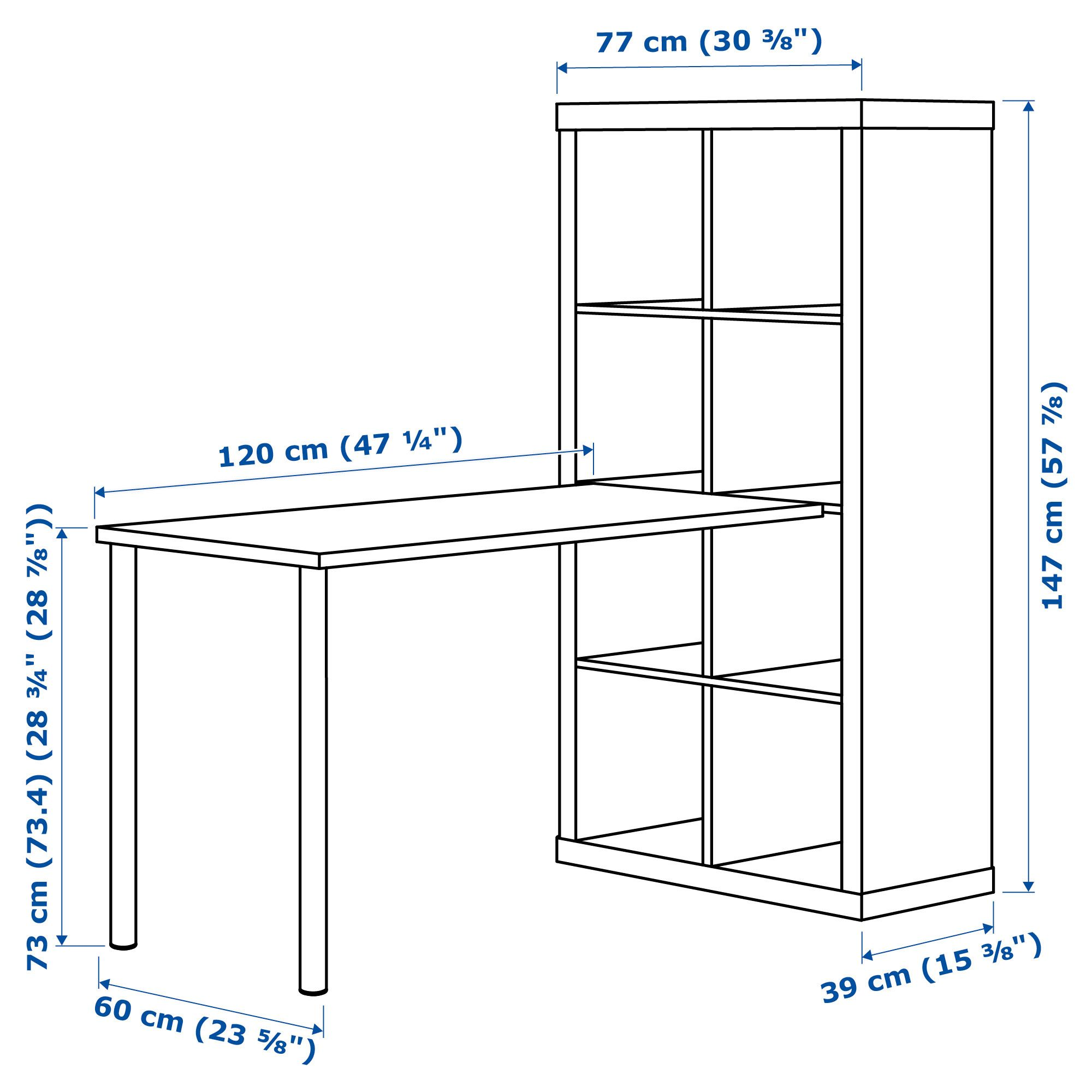 Scrivania Alve Di Ikea.Ikea Kallax White Stained Oak Effect White Workstation In 2019